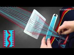 Weaving zigzag pattern with STOORSTÅLKABand weaving kit Sunna 5 - YouTube