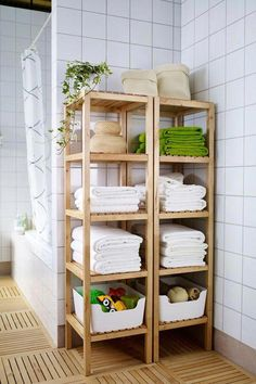 MOLGER Shelf unit - birch - IKEA : The open shelves of the IKEA MOLGER shelf unit keep all of your bath products including towels and toiletries organized and accessible! Bathroom Shelf Unit, Small Bathroom Storage, Bathroom Organization, Organization Ideas, Bathroom Storage Furniture, Bathroom Countertop Storage, Bath Towel Storage, Bathroom Ideas, Bathroom Shelves For Towels
