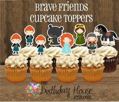 Brave Friends Party Set of 12 Assorted Merida por TheBirthdayHouse