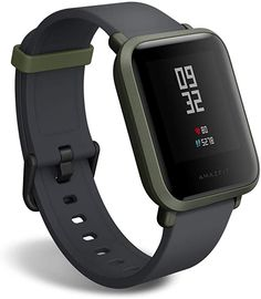 Amazfit BIP smartwatch by Huami with All-Day Heart Rate and Activity Tracking, Sleep Monitoring, GPS, Battery Life, Bluetooth (Green) Spy Watch, Bluetooth, Best Fitness Tracker, Smartphone, Spy Gadgets, Electronic, Hand Watch, Wooden Watch, Heart Rate