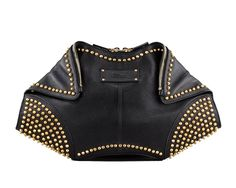 ROCK CHICK CHIC: don't leave the house without your studded McQueen clutch.
