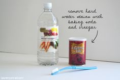 how to clean hard water stains on stainless steel refrigerator