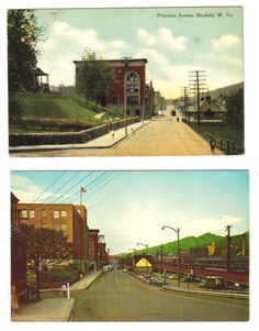 Two Views Of Princeton Avenue In Bluefield Wv