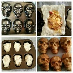 Crescent dough + hot dogs + cheese = Pigs in a SKULL! Halloween Snacks, Halloween Pizza, Halloween Goodies, Halloween Dinner, Halloween Birthday, Halloween Party Decor, Halloween Fun, Halloween Skull, Fall Recipes