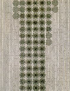 Untitled - Eva Hesse 1966. Black ink wash and pencil.