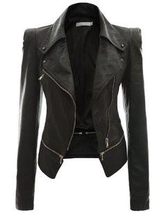 Doublju Faux Leather Power Shoulder Jacket - List price: $78.99 Price: $54.99 Saving: $24.00 (30%) + Free Shipping