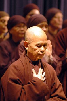 "Thich Nhat Hanh: ""It is possible that the next Buddha will not take the form of an individual. The next Buddha may take the form of a community – a community practicing understanding and loving kindness, a community practicing mindful living. This may be the most important thing we can do for the survival of the earth."""