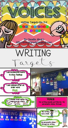 Here is a perfect way to track what you've taught and students to remember what you taught in Writer's Workshop! VOICES works with all genre - narrative, informational, opinion and persuasive. Each letter represents one of the six traits of writing.    The VOICES headings are:   V: Voice   O: Organization   I: Ideas   C: Conventions   E: Excellent Word Choice   S: Sentence Fluency