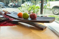 Creative use for old wine barrel - Wine Barrel Serving Platter