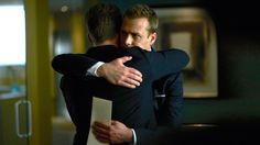Mike and Harvey saying Good bye