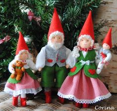 Gorgeous gnomes by Corina