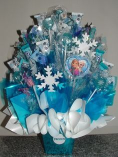 FROZEN Candy Centerpiece with 26 Edible Party by CandyFlorist, $42.95