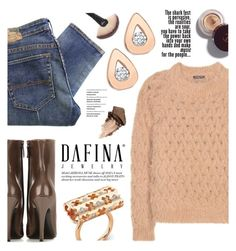 """""""Dafina Jewelry"""" by yexyka ❤ liked on Polyvore featuring Balenciaga, Denim & Supply by Ralph Lauren, Balmain, Urban Decay and dafinajewelry"""