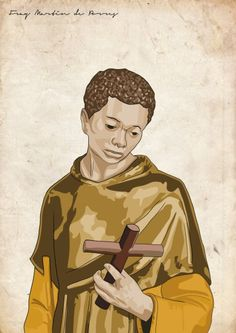 """Saint of the Day – 3 November – St Martin de Porres O.P. """"Saint of the Broom"""" Dominican lay Brother, Miracle Worker, Apostle of Charity, Mystic – Also known as:• Martín de Porres Velázquez, • Martin of Charity, • Martin the Charitable, • Saint of the Broom (for his devotion to his work, no matter how menial).   (9 December 1579 at Lima, Peru – 3 November 1639 in Lima, Peru of fever).   Beatified in 1837 by Pope Gregory XVI and Canonised on 6 May 1962, by Pope John XXIII....."""