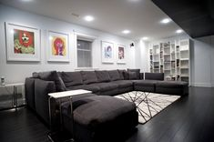 Great Big Comfy Couch decorating ideas for  Home Theater Modern design ideas with Great  media room theatre