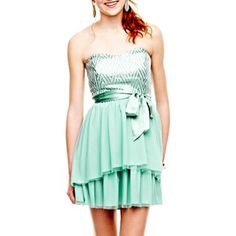 by&by Sequin High-Low Dress - jcpenney