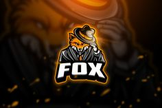 , Fox - Mascot & Esport Logo- Suitable for your personal or squad logo, All elements on this template are editable with adobe illustrator! Game Logo Design, Logo Design Template, Logo Templates, Gaming Wallpapers, Animes Wallpapers, Vector Game, Esports Logo, Fox Logo, Skull Illustration