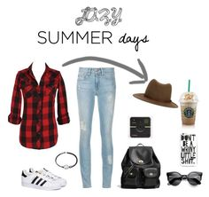 """Lazy Summer Days"" by itsamandamandy on Polyvore featuring Coach, rag & bone, adidas and Alex and Ani"