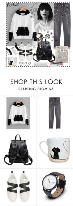 """""""Romwe"""" by natalyapril1976 on Polyvore featuring Mode, Karl Lagerfeld und Valentino"""