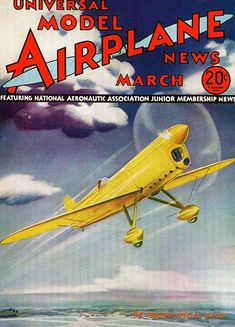 Model Airplane News - The Brown Special Racer - March 1933 - Magazine Cover Poster