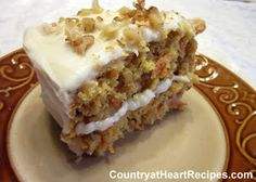 Country at Heart Recipes: Carrot Cake