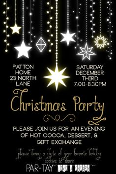free editable christmas party invitation- so elegant! this will be perfect for our dinner party. (Christmas Ideas For Work)