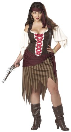 Plus Size Buccaneer Beauty Pirate Costume - Pirate Costumes