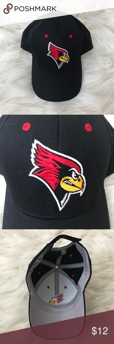 ISU baseball cap Black ISU baseball cap with Reggie on the front! Velcro back and this hat has never been worn, but tags have been removed. Let me know if you have anymore questions! Accessories Hats
