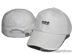 One Baseball Caps Curved Brim Hats White only US$8.90 - follow me to pick up couopons.