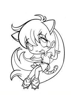 Manga Fargelegging for barn. Tegninger for utskrift og fargelegging nº 18