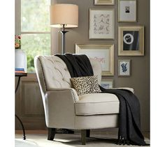 The Pottery Barn Cardiff Tufted Upholstered Chair Is 69% Off With This Look  Alike From Amazon. #UpholsteredChair | Upholstered Chair | Pinterest |  Cardiff, ...
