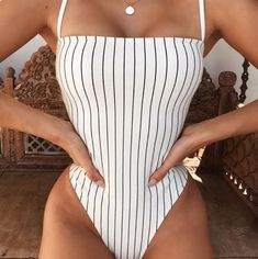 One Piece Swimsuit Striped, One Piece Bikini, Women's One Piece Swimsuits, One Piece Swimsuit For Teens, One Piece Swimsuit Flattering, White Swimsuit, Summer Bathing Suits, Bathing Suits One Piece, Cute Bathing Suits