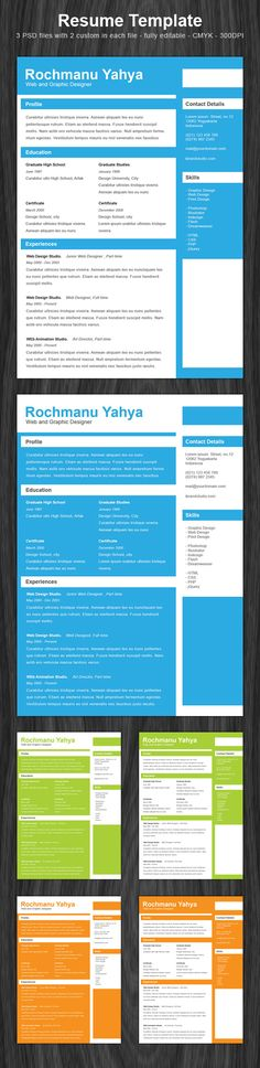 Clean one page resume is a free PSD template come with simple and clean style, very easy to customize and package with 6 different colors to choose. Perfect for everyone to promote their best skills and get a dream job.