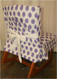 Dorm Suite Dorm Violet Jojo Dorm Chair Slipcover With White Ties