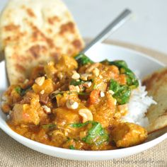 Chicken and Butternut Squash Coconut Curry | Serve over Mahatma Basmati Rice for a delicious dinner idea.
