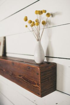 48x7 Rustic Driftwood and Barn Board Floating Shelf by foundpiece, $255.00