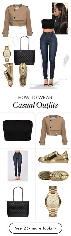 """Women's Casual out ware ."" by diversityle on Polyvore featuring Moschino, Steve Madden, 3.1 Phillip Lim, Magda Butrym and Michael Kors"