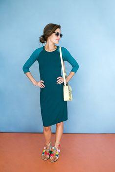 Sonnet James Remi dress in teal   Cool Mom Picks