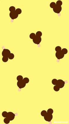 Yellow, Mickey Ice Cream smartphone wallpaper