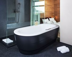 Kaldewei bathtub // Reference: 25 Hours Bikini Berlin Hotel #Kaldewei #Hotel #Berlin