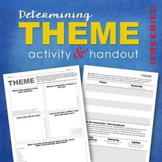 Determining theme and its development is central to Common Core literature skills.  This FREE activity enables students to employ a variety of strategies to identify themes and how they develop over the course of a text.  It also  adds a modern twist by allowing students to connect these themes to their favorite music.
