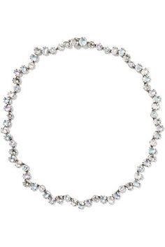 Larkspur & Hawk - Caterina Garland Rivière Rhodium-dipped Quartz Necklace - Silver - one size