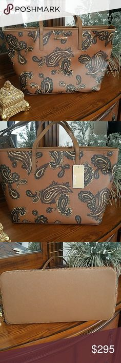 89f890e79a80 ☡SUBMIT UR BEST OFFER☡ Michael Kors Large Tote Brand new beautiful MK Emry  Paisley Coated Canvas; Imported; Large sized bag; 19