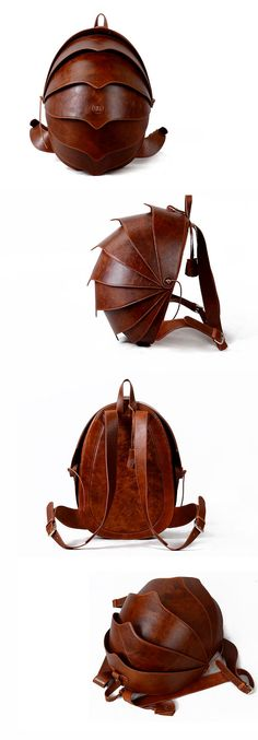 Leather Backpack for Men or For Women-Large Brown Beetle Bag Best Backpack -Free Returnsand Quality Guarantee