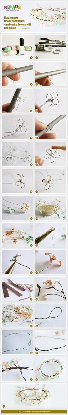 How to Make Flower Headbands - Make Wire Flowers with Nail Polish – Nbeads