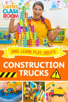 Caitie explores building and construction trucks! We specifically talk about dump trucks, excavators, and bulldozers – some of our favorites! Get out your toy trucks and blocks, there are lots of things we can build when we work together! Songs, crafts, field trips and more!