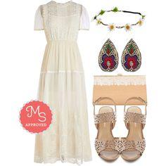 """Woodland Wedding Dress"" by modcloth on Polyvore"