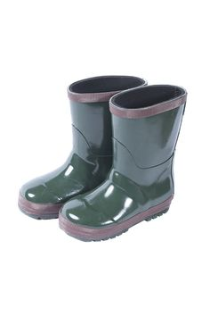 Toddler warm wellies in green