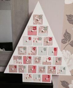 Home-decorated advent calendar. Tree from Hobbycraft Christmas Vinyl, Christmas Crafts, Xmas, Christmas Tree, Christmas Stuff, Christmas Ideas, Advent House, Wooden Advent Calendar, Advent Calenders