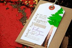 Redwood Save the Date  Luggage Tag Magnet Wedding by mavora, $10.00